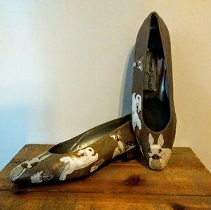 VTG Margaret Jerrold Leather Bunny Applique Pumps